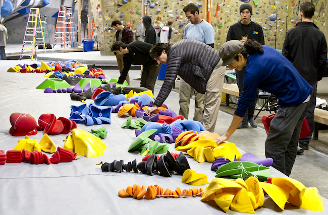 Setters choose their holds at the Kingdom Games