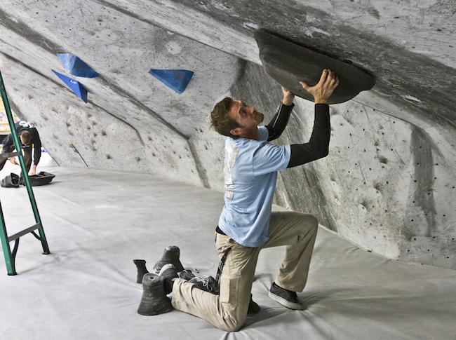 Setter, Nick Ciotti.  Photo: Kingdom Climbing.