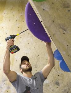 Setter, Dean Privett.  Photo: Kingdom Climbing