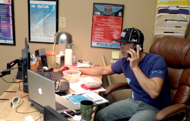 Kynan Waggoner at USA Climbing headquarters