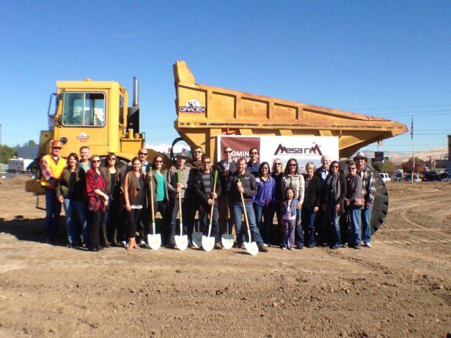 Mesa Rim owners, investors and construction team at the site.  Photo: Mesa Rim
