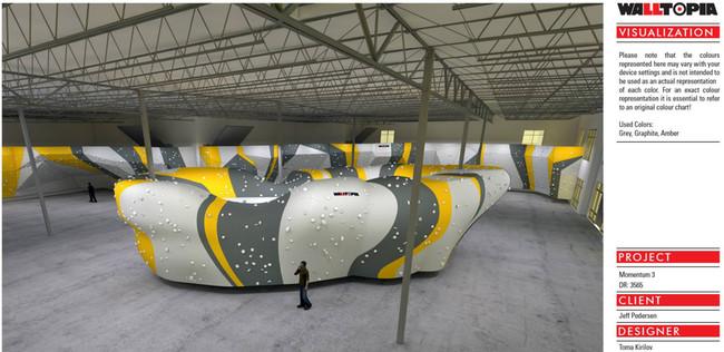 Walltopia rendering of Momentum Indoor Climbing - Lehi