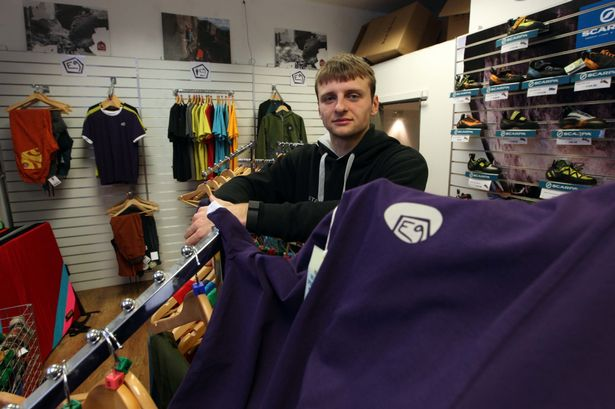 David Murray climbing instructor at Climb, Byker the center was broken into and had thousands of pounds worth of clothing stolen. Photo: Chronicle Live