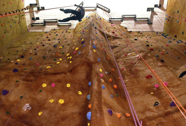 Inside Outside-In Climbing gym. Photo: Register Herald.