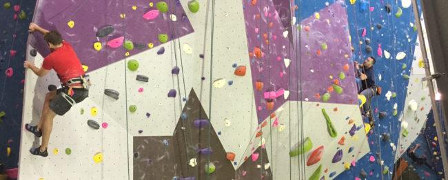 Climbers getting fit at Planet Granite Portland. Photo: CBJ