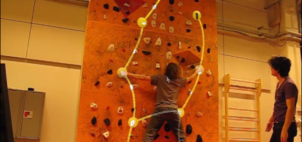Interactive Projector Could Enhance Climber Training