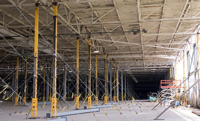 Inside look at a roof lift. Photo: Rooflifters