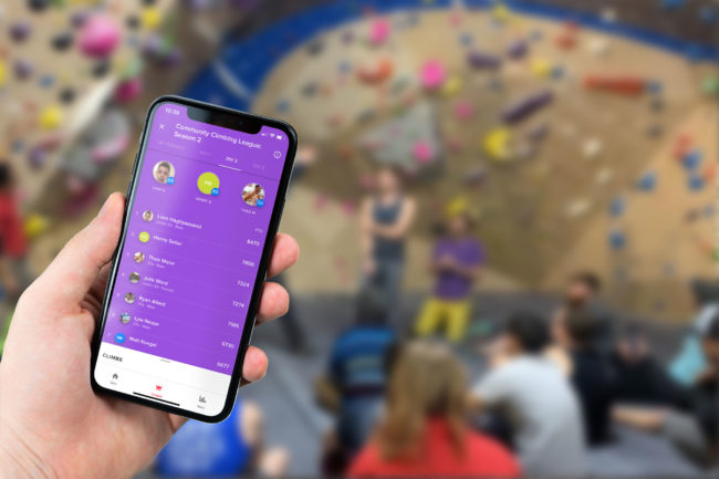 The Venga app used at a successful climbing league.