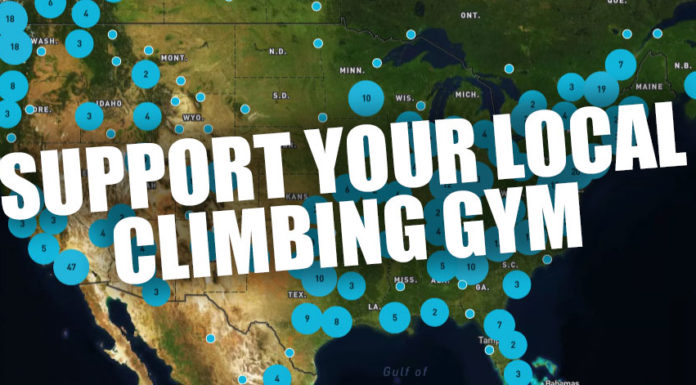 support your local climbing gym