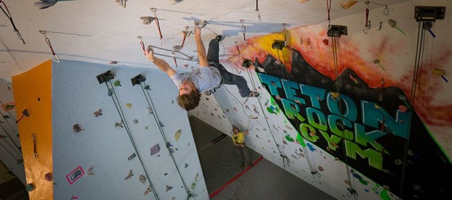 Teton Rock Gym owner Brady Johnston. Photo: TRG