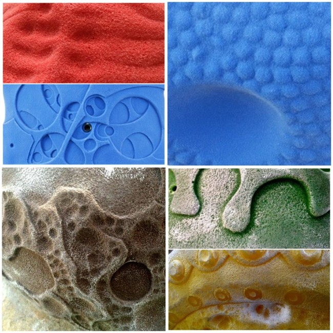 A sampling of the eGrips textures through the ages.  Photo: eGrips