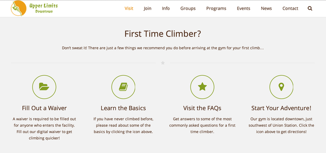 Upper Limits provides clear guidance to first timers