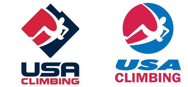 Left: New USAC logo.  Right: Old USAC logo