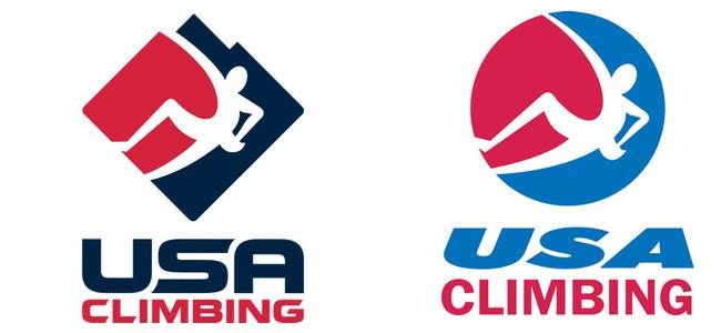 Left: New USAC logo.  Right: Old USAC logo