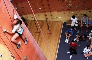 Non-padded flooring under roped climbing areas (Photo: Vertical Assault)