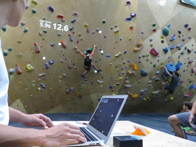 Playing the game at Brooklyn Boulders.  Photo: Randori.